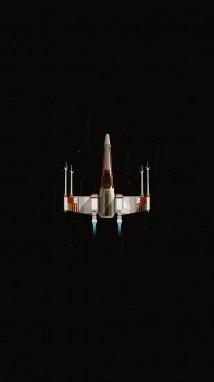 Spaceship Space Flying Black Background X Wing Star Wars