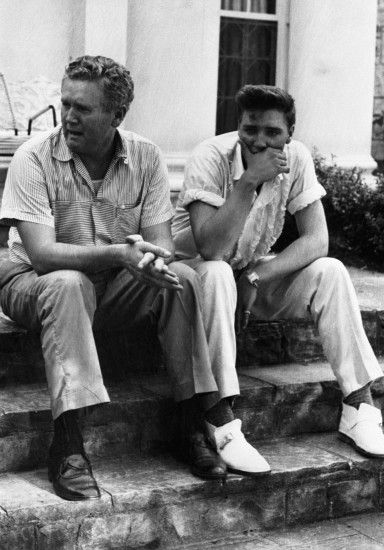Elvis Presley and his father numbed over the sudden death .