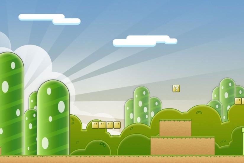 Super Mario Template Wallpaper.
