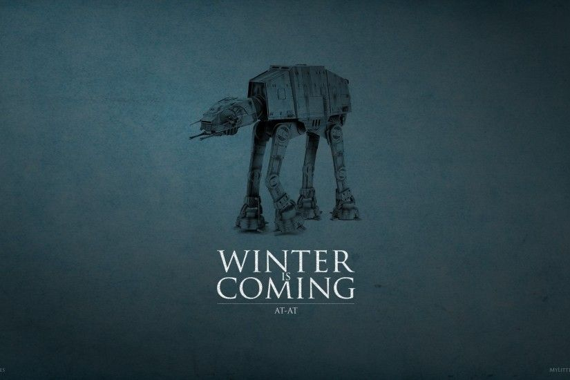 House Stark, Star Wars, AT AT, Game Of Thrones, Crossover, A Song Of Ice  And Fire, Winter Is Coming Wallpapers HD / Desktop and Mobile Backgrounds