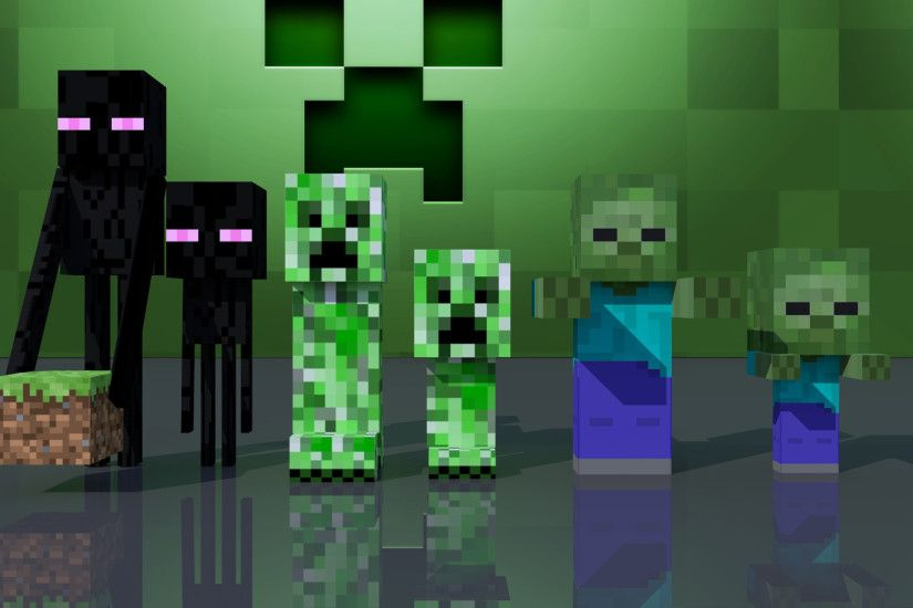 Minecraft Creeper Background ·①