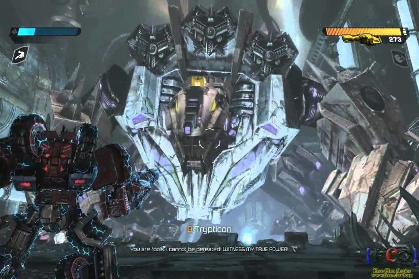 Transformers: War for Cybertron / defeating Trypticon (including Credits)  (HD) - YouTube