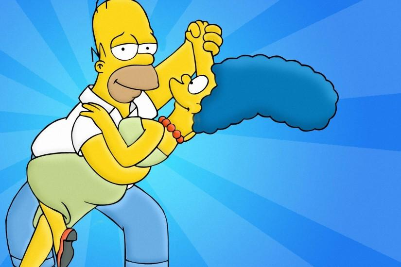 TV Show - The Simpsons Marge Simpson Homer Simpson Wallpaper