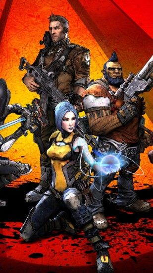 Borderlands 2, Characters, Axton, Salvador, Maya, Zer0, Artwork, Guns