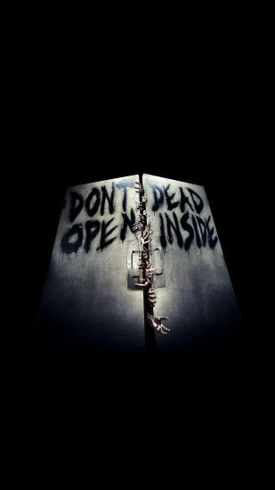 The-walking-dead-door-iPhone-3Wallpapers-Parallax
