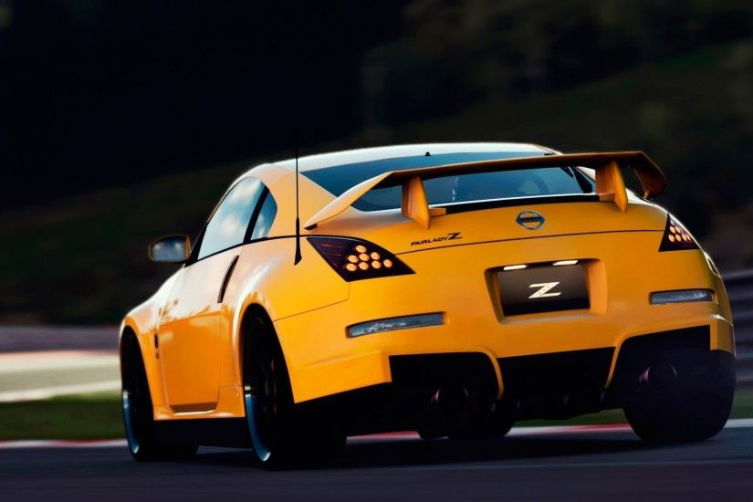 Yellow car Nissan 350Z
