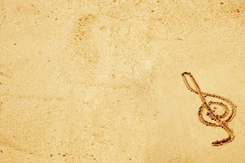 Sand Music Note Wallpaper 212
