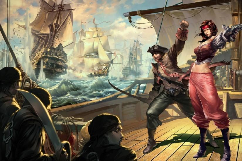 Pirate Drawings | ... pirate weapons sword women men ships ocean art  wallpaper background