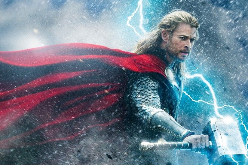 Preview wallpaper thor the dark world, thor, chris hemsworth, battle  1920x1080