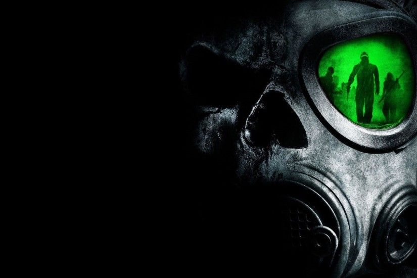 Wallpapers For > Black And Green Skull Wallpaper