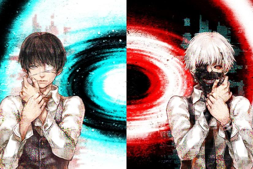 wallpaper tokyo ghoul kaneki ken by crossxace watch fan art wallpaper .