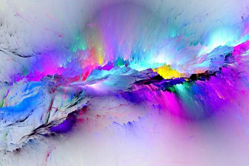 abstract, Painting, Colorful, Paint splatter Wallpaper HD