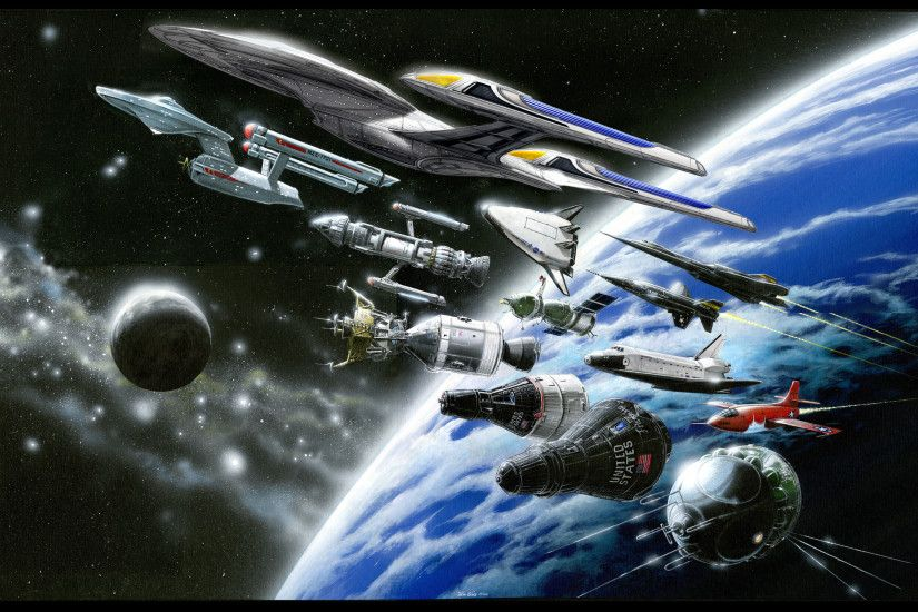the opening credits of enterprise. Star Trek ...
