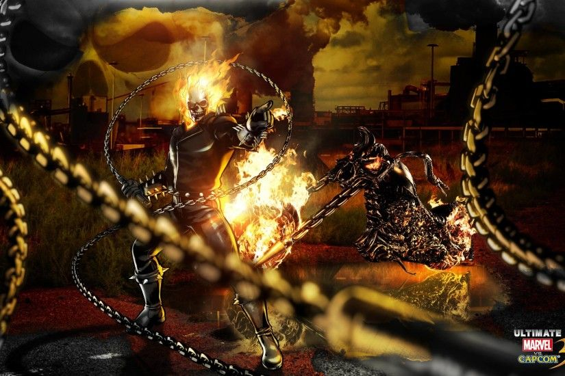 Ghost Rider Marvel Vs Capcom Wallpaper 2560x1600 px Free Download .