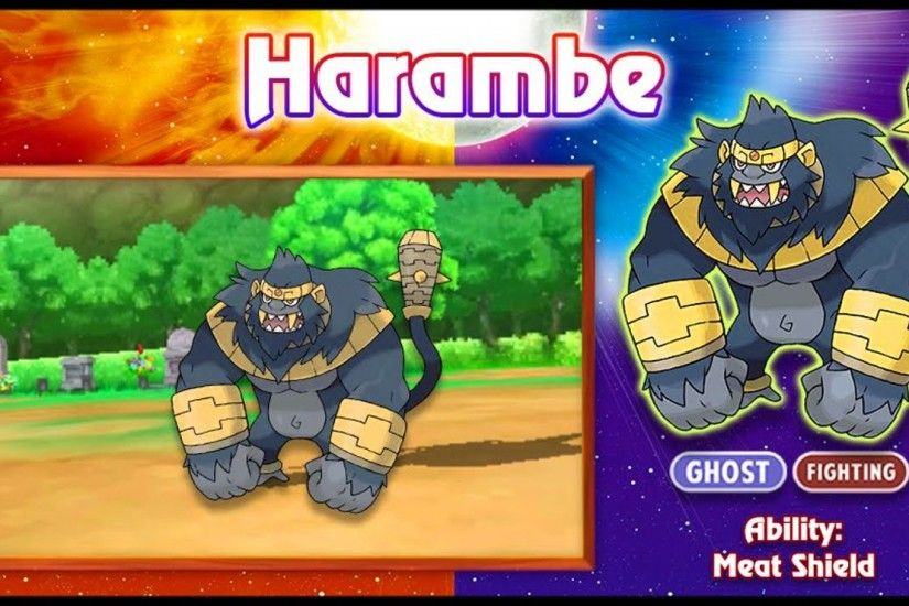 Pokemon Sun And Moon Harambe iPhone Wallpapers HD