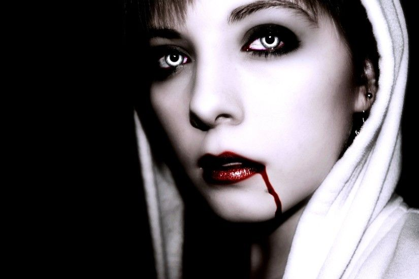 Vampire Katlin with Red Lips wallpaper from Vampire wallpapers