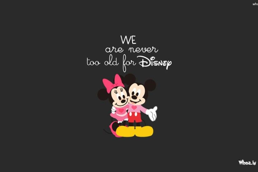 Mickey And Minnie Mouse With Dark Background HD Wallpaper ...