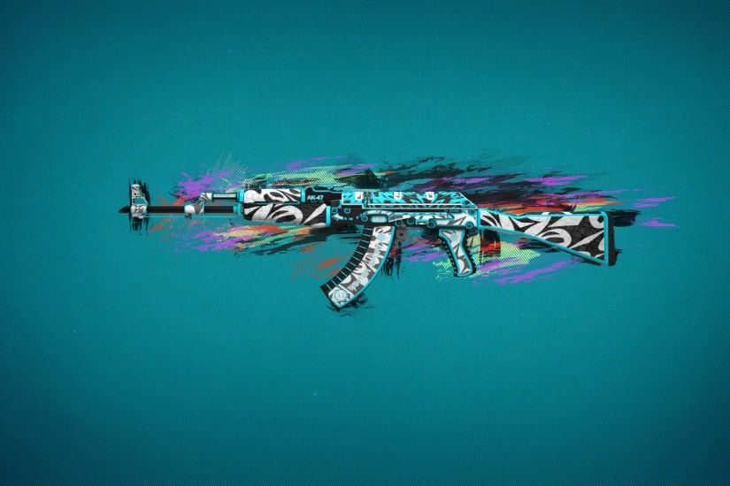 Ak47 Colorful Art