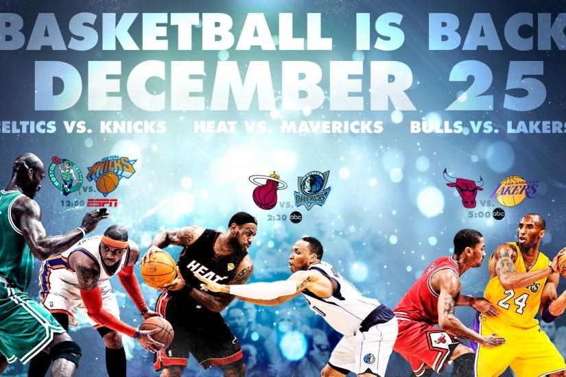 NBA Is Back Widescreen Wallpaper