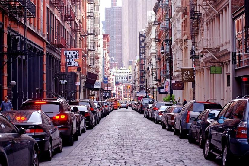 New York Street Wallpapers Widescreen Beautiful Wallpapers High Resolution  Quality 2880x1800 px 2.79 MB City Street