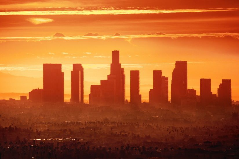 Los Angeles City Sunset Wallpaper 14244