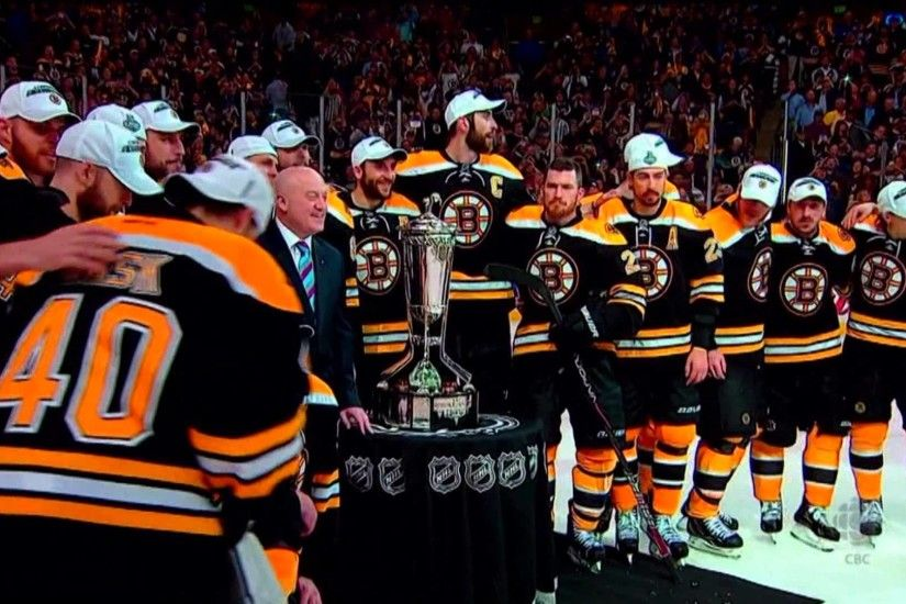 Zdeno Chara and the Boston Bruins claim the Prince of Wales Trophy June 7  2013 HD