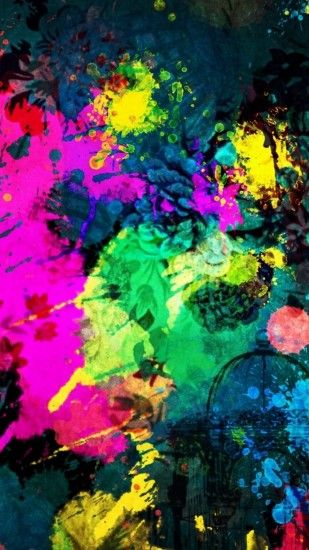 Click here to download 768x1366 pixel Colorful Paint Splatter Android Best  Wallpaper