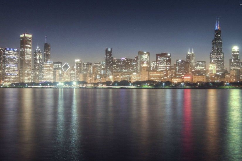 Chicago Skyline HD desktop wallpaper Fullscreen Mobile