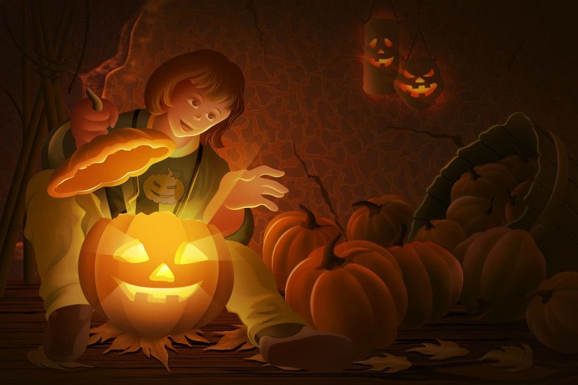 Cute Anime Halloween Wallpaper 21478wall.jpg