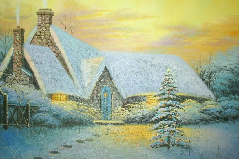 Thomas Kinkade Winter Wallpapers (28 Wallpapers)