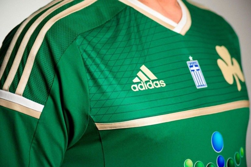 Panathinaikos Jersey 2014-2015 Adidas Home Kit Wallpaper Wide or .