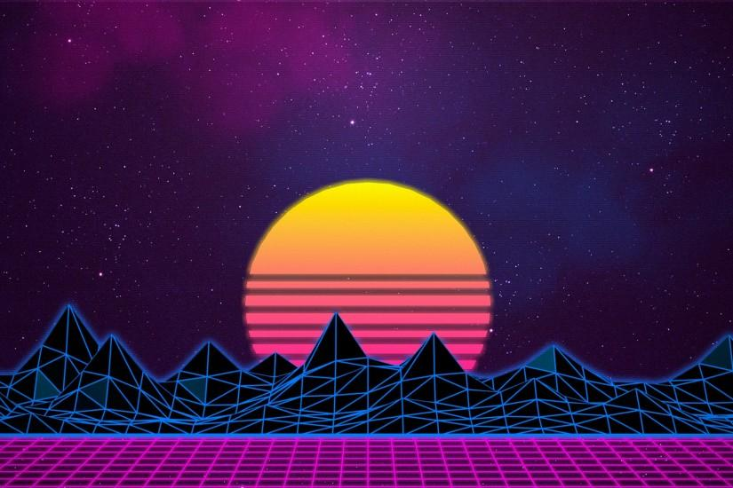 synthwave wallpaper 1920x1080 ipad