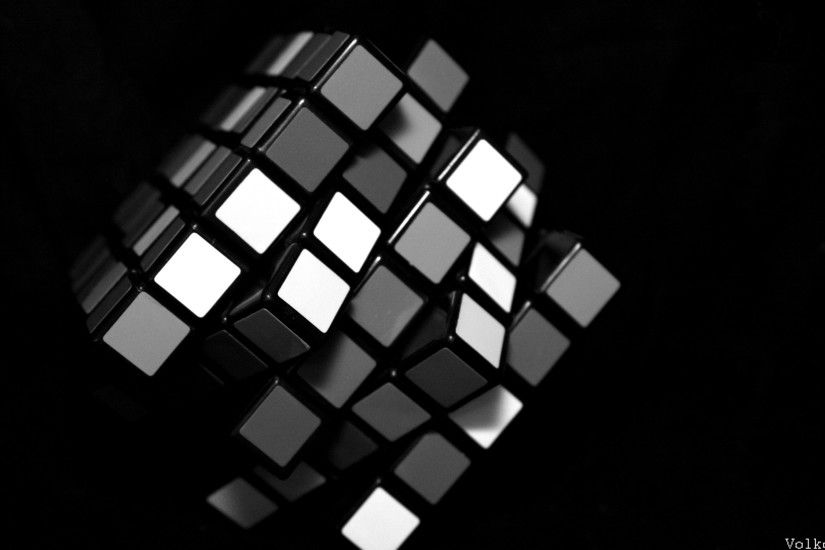 rubiks cube black 3d picture wallpaper ...