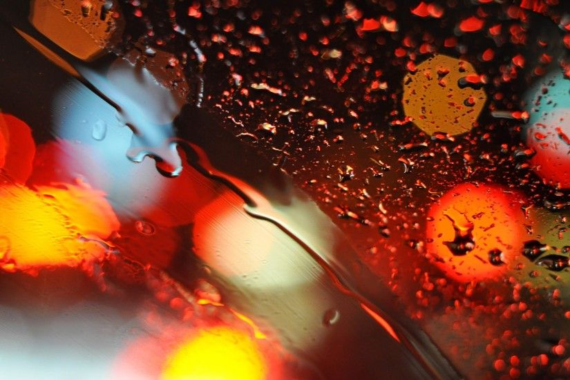 Bokeh glass lights water drop Mac wallpaper