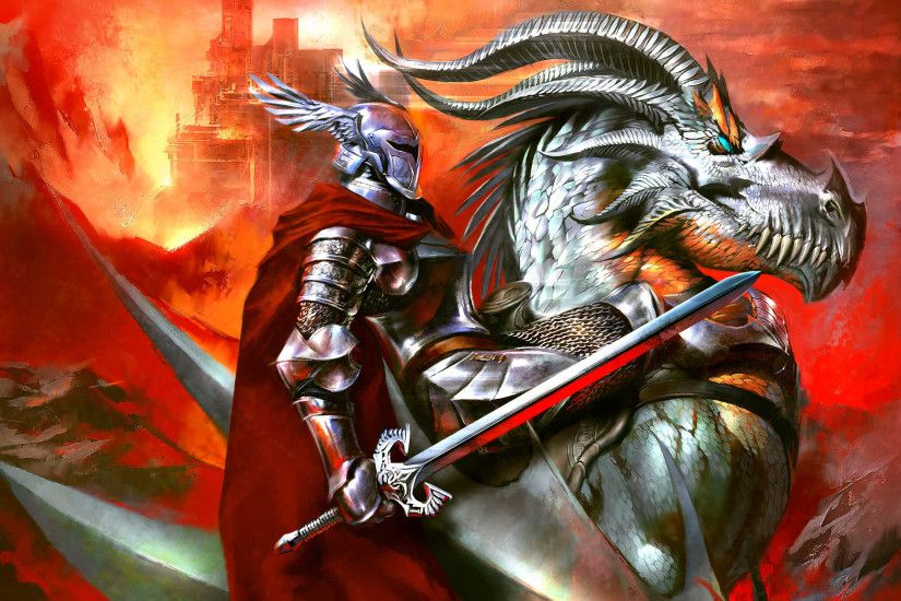 Dragonlance comics fantasy art dragon warrior knight armor wallpaper |  2400x1800 | 41892 | WallpaperUP