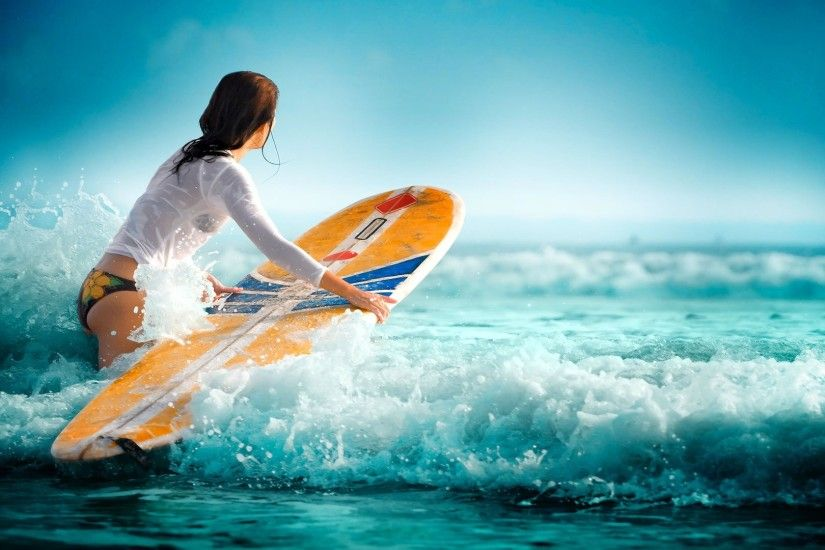 Surfing Girls Wallpaper HD Images – One HD Wallpaper Pictures .