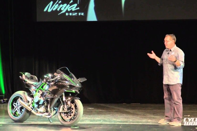 Kawasaki Ninja H2R Superbike Presentation Video From AIMExpo 2014 - YouTube