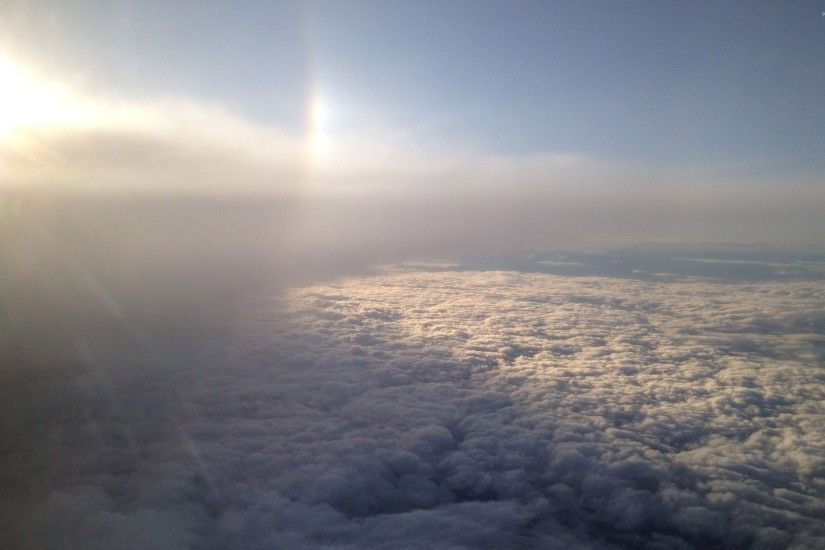 Rainbow above the clouds wallpaper 2880x1800 jpg