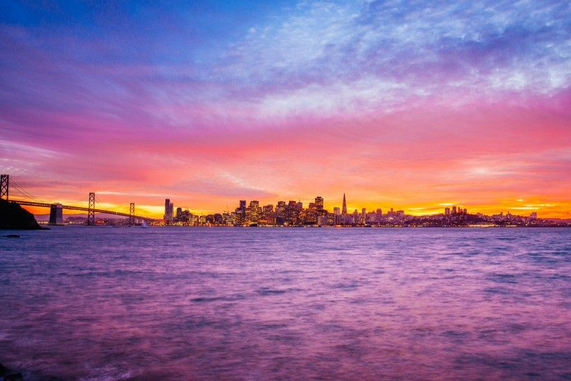 Wonderful view over the Treasure Island, San Francisco at sunset in this  new 4K picture from portfolio of the talented - Clint Sharp · Download the  ...