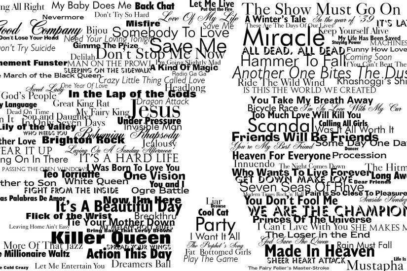 typography, Freddie Mercury, Queen, Silhouette Wallpapers HD / Desktop and  Mobile Backgrounds
