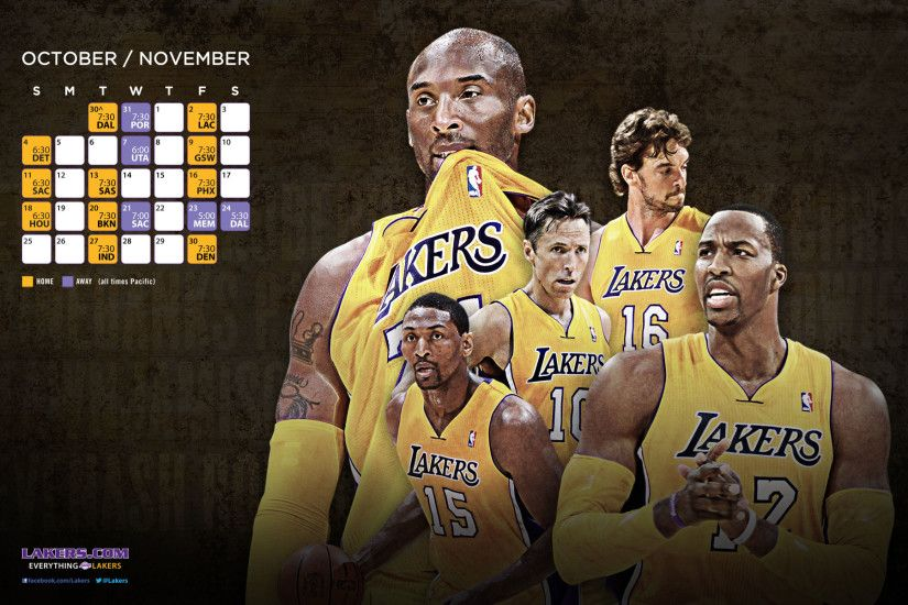 NBA LA Lakers Roster HD Wallpapers in HD