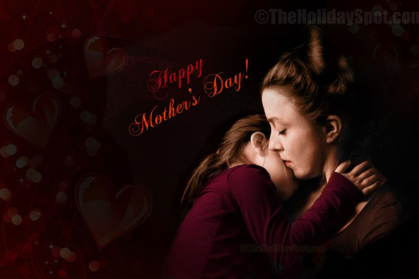 Wallpaper with Happy Mother's Day wishes