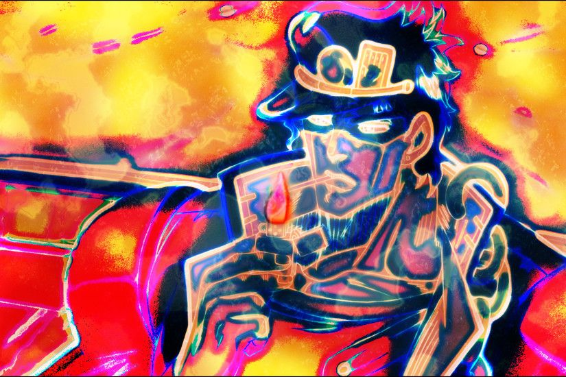 General 2560x1440 JoJo's Bizarre Adventure JoJo's Bizarre Adventure:  Stardust Crusaders trippy smoking Jotaro Kujo