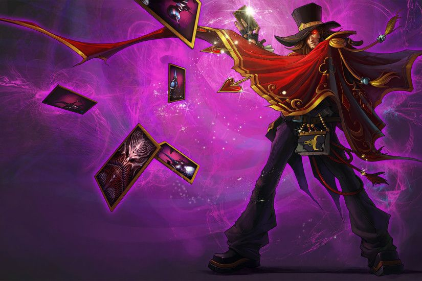 The Magnificent Twisted Fate Splash Art League of Legends Artwork Wallpaper  lol