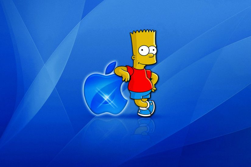 Wallpaper Bart Simpson Foloseste Apple