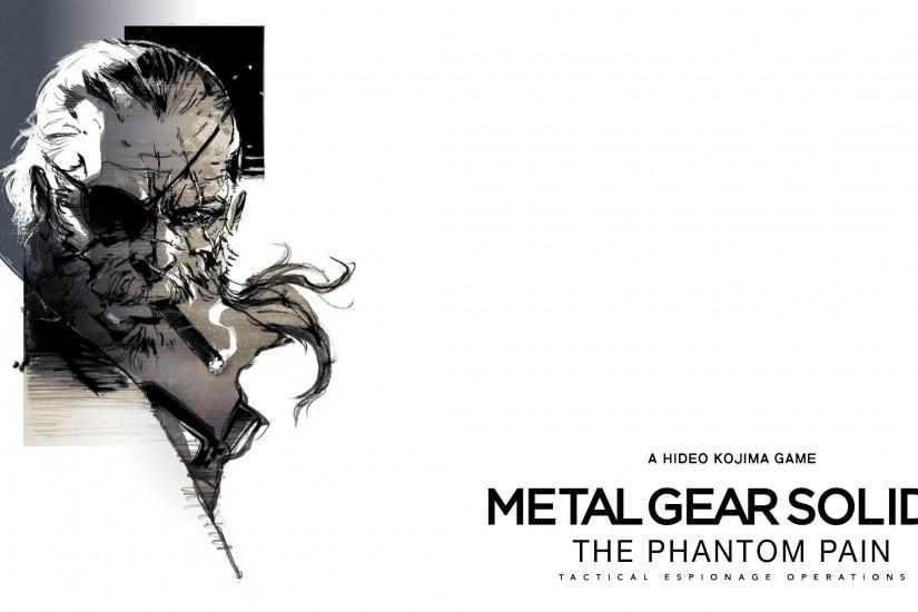 Metal Gear Solid V: The Phantom Pain Big Boss Artwork 2560x1440 wallpaper