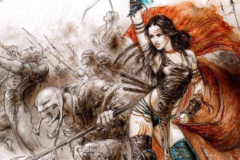 Luis Royo images Female Warrior HD wallpaper and background photos