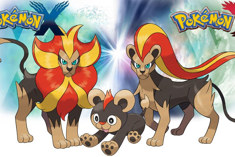 ... Pokemon X Y - Wallpaper - Litleo and Pyroar by Thelimomon