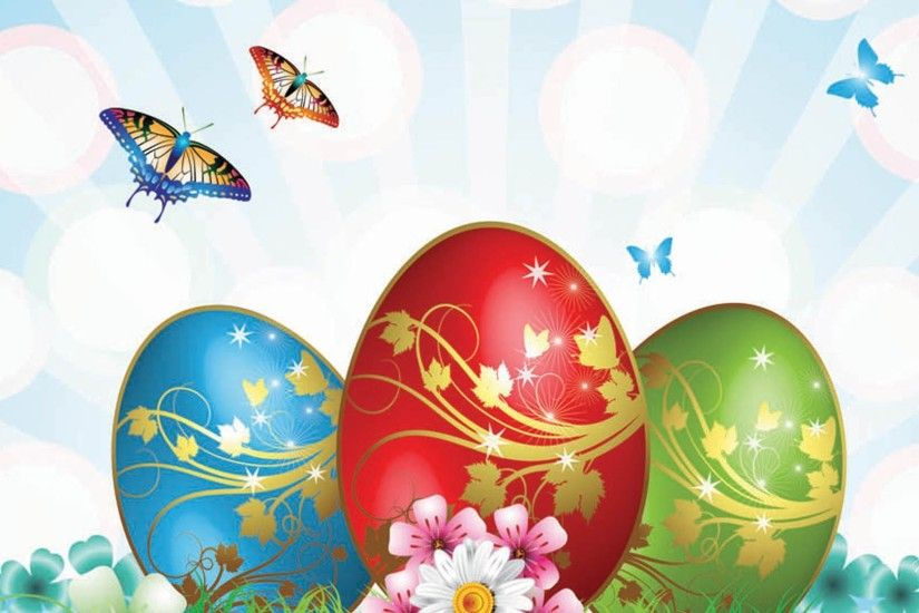 Beautiful animated Easter HD widescreen wallpaper