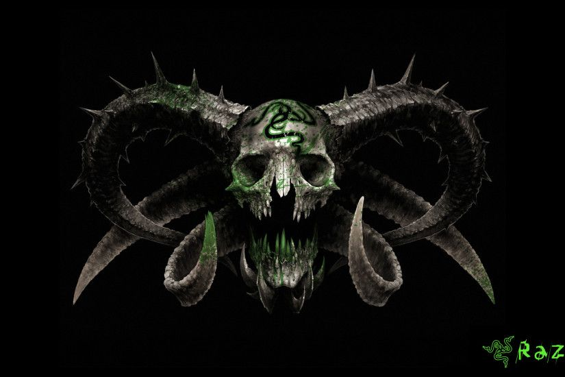 Technology - Razer Skull Wallpaper